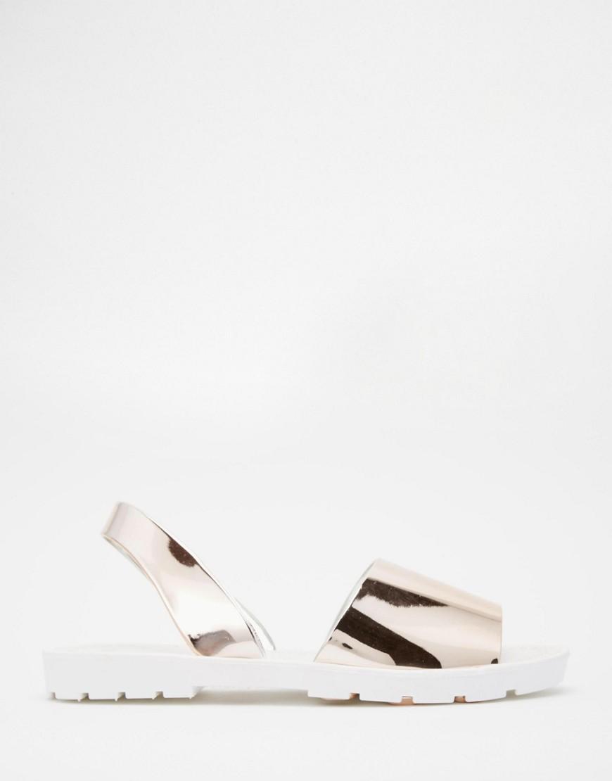 asos chaussures argentées