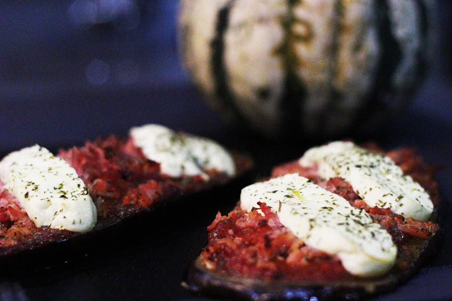 tartines de légumes