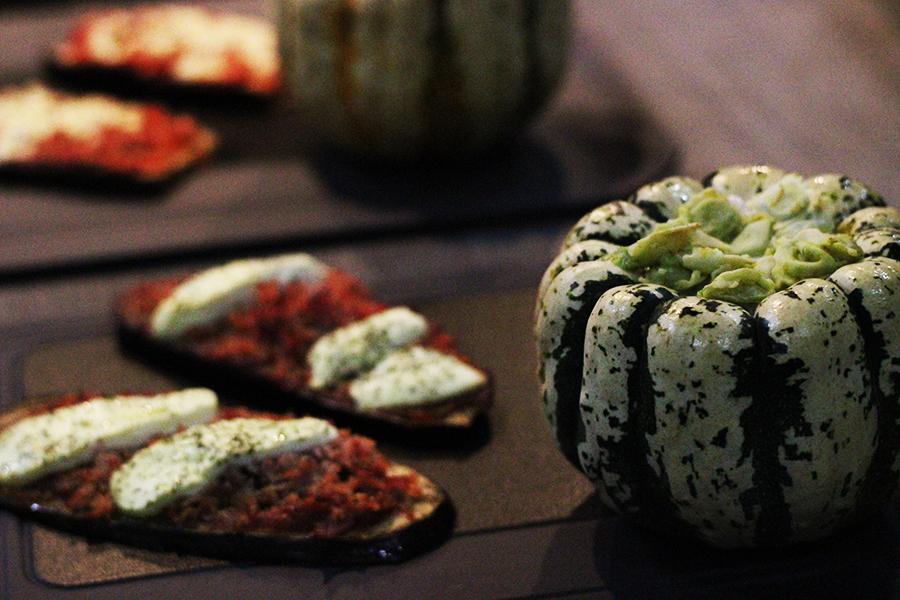 ravioles coco tartines aubergine