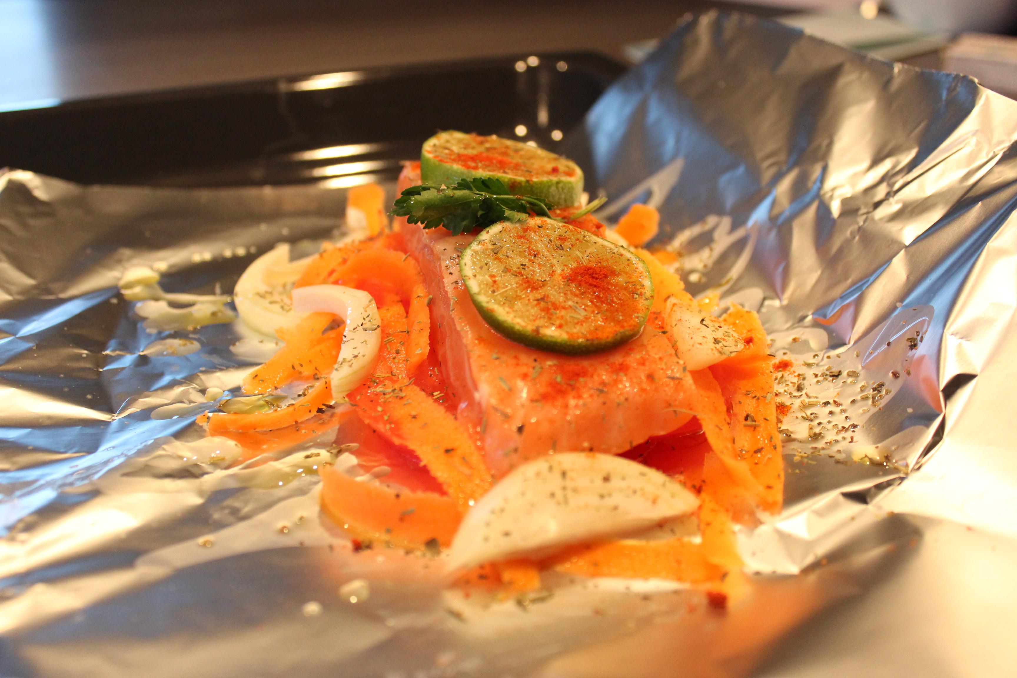 recette saumon papillote