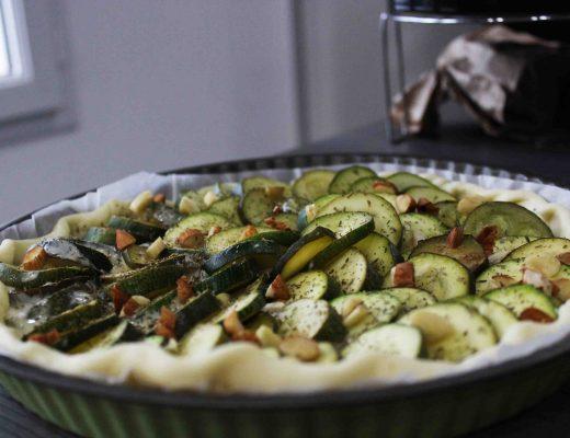 courgette tarte végétarienne