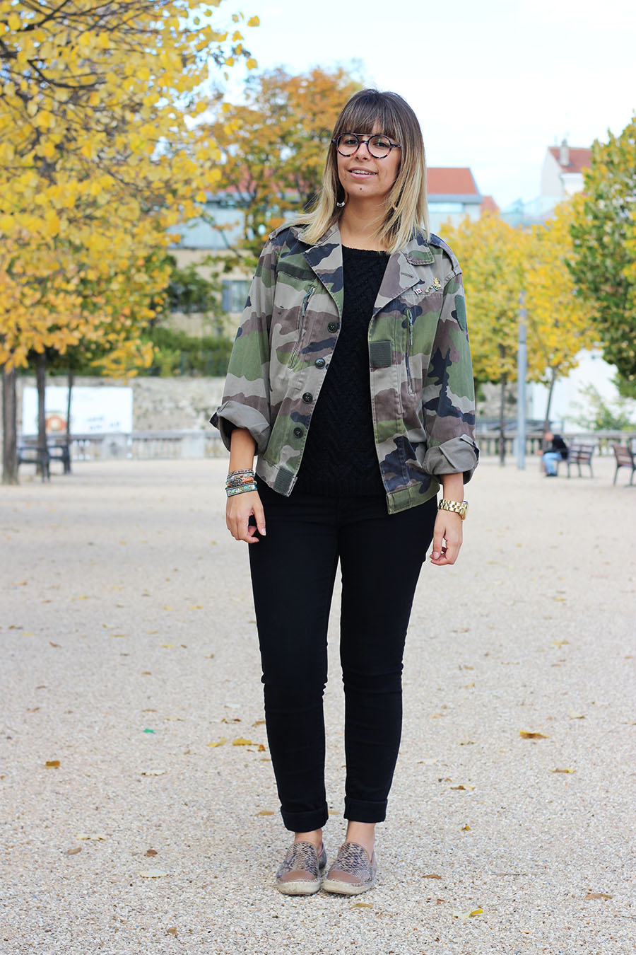 look of the day military jacket