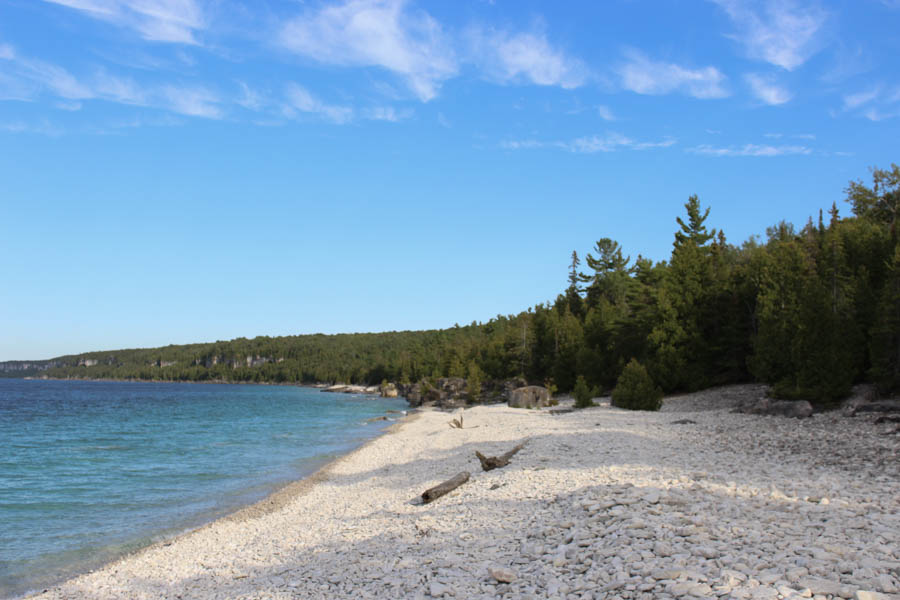 plage-galets-blancs-bruce-peninsula